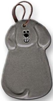 August Ceramics 2047G Gray Ornament