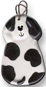 August Ceramics 2047WB Spots Black White Ornament