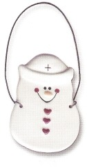 August Ceramics 2063 Nurse Ornament