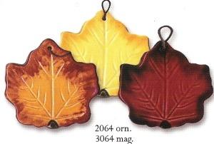 August Ceramics 2064 Maple Leaf Ornament