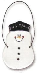 August Ceramics 2069 Postman Ornament