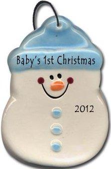 August Ceramics 2075B Baby's 1st Christmas Ornament