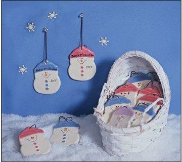 August Ceramics 2075C Baby's 1st Christmas Ornament