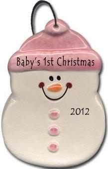 August Ceramics 2075P Baby's 1st Christmas Ornament
