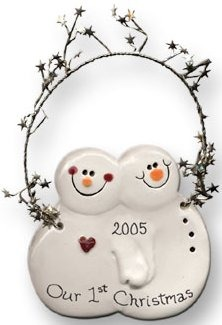 August Ceramics 2078C Verse - Click Photo Ornament