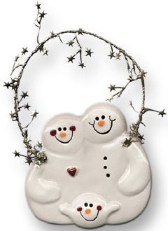 August Ceramics 2080 with 1 snowball Ornament