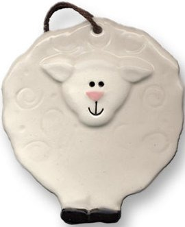 August Ceramics 2089 Lamb Ornament