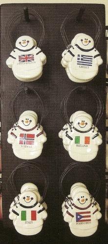 August Ceramics 2099ITA Italy Flag Ornament