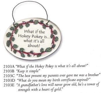 August Ceramics 2103A Verse - Click Photo Disk Hanger