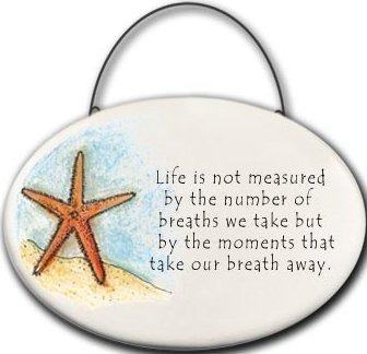 August Ceramics 2109E Starfish Life is not measured by the number of breaths Mini Disk