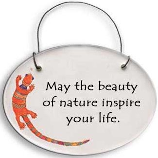 August Ceramics 2118C Verse - Click Photo Disk Hanger