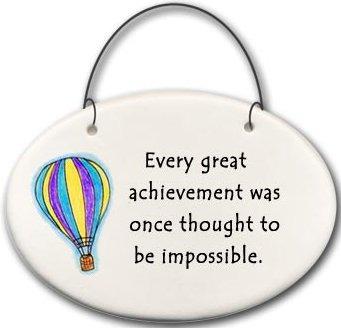 August Ceramics 2119A Hot air balloon Every great achievement Mini Disk