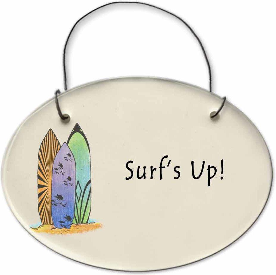 August Ceramics 2127C Surfbords Surf's Up Mini Disk