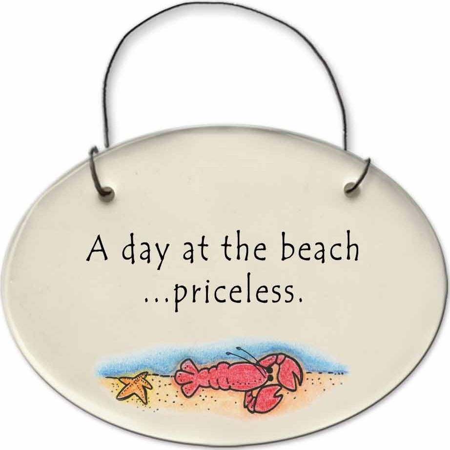 August Ceramics 2129B Lobster in Sea A Day at the beach priceless Mini Disk