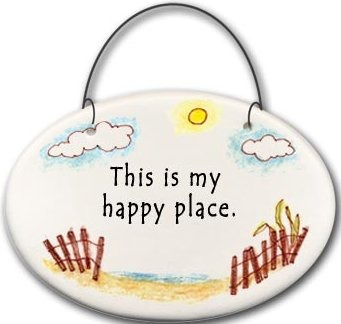 August Ceramics 2130D Beach fence This is my happy place Mini Disk