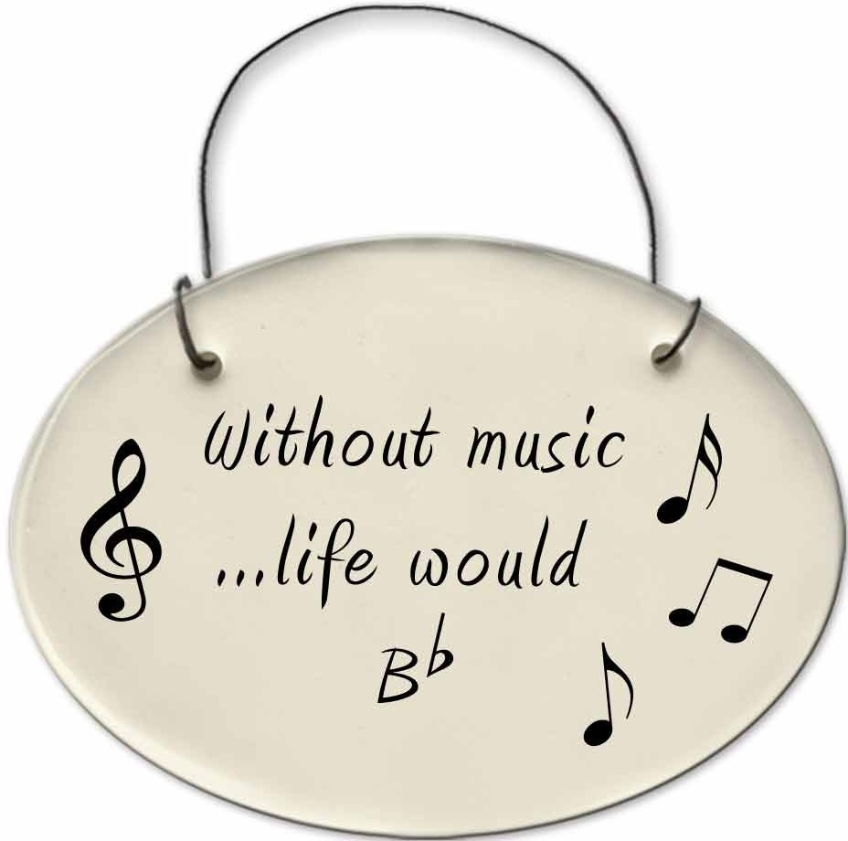 August Ceramics 2135A Notes 'without music life would be flat' Mini Disk