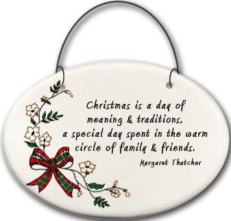 August Ceramics 2141A Christmas bow - Christmas is A Day of meaning Mini Disk
