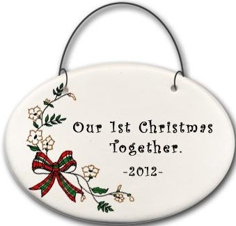 August Ceramics 2141B Christmas bow - Our 1st Christmas together 2010 Mini Disk