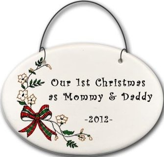 August Ceramics 2141C Christmas bow - Our 1st day as Mommy and Daddy 2010 Mini Disk