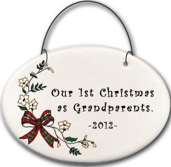 August Ceramics 2141D Christmas bow - Our 1st Christmas as Grandparents 2010 Mini Disk