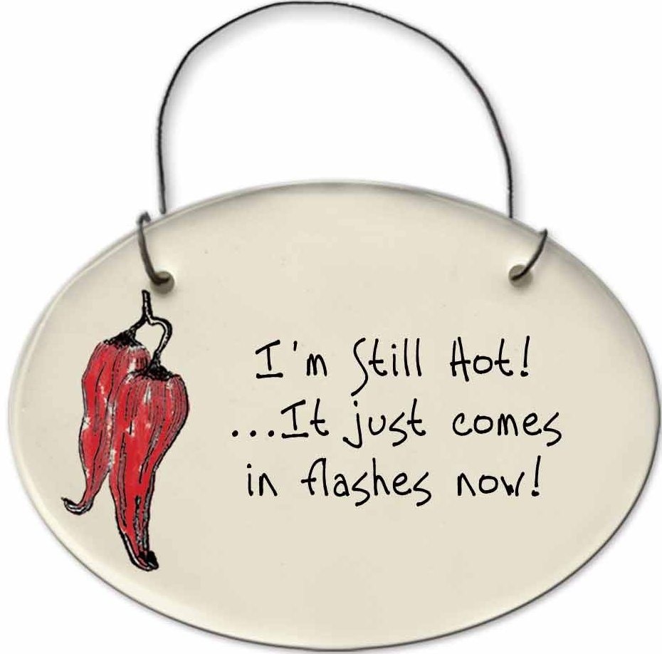 August Ceramics 2151M Chili Pepper - I'm still hot it just comes in flashes now Mini Disk