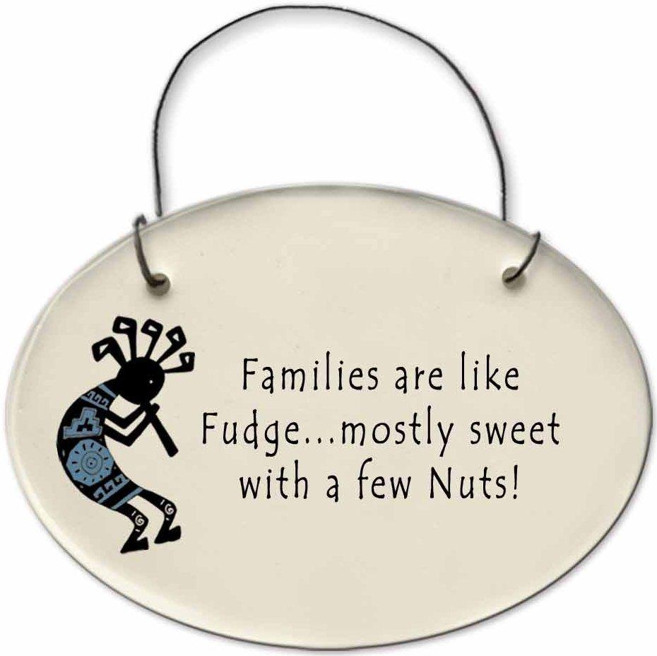 August Ceramics 2152D Kokopelli - Family is like fudge Mini Disk