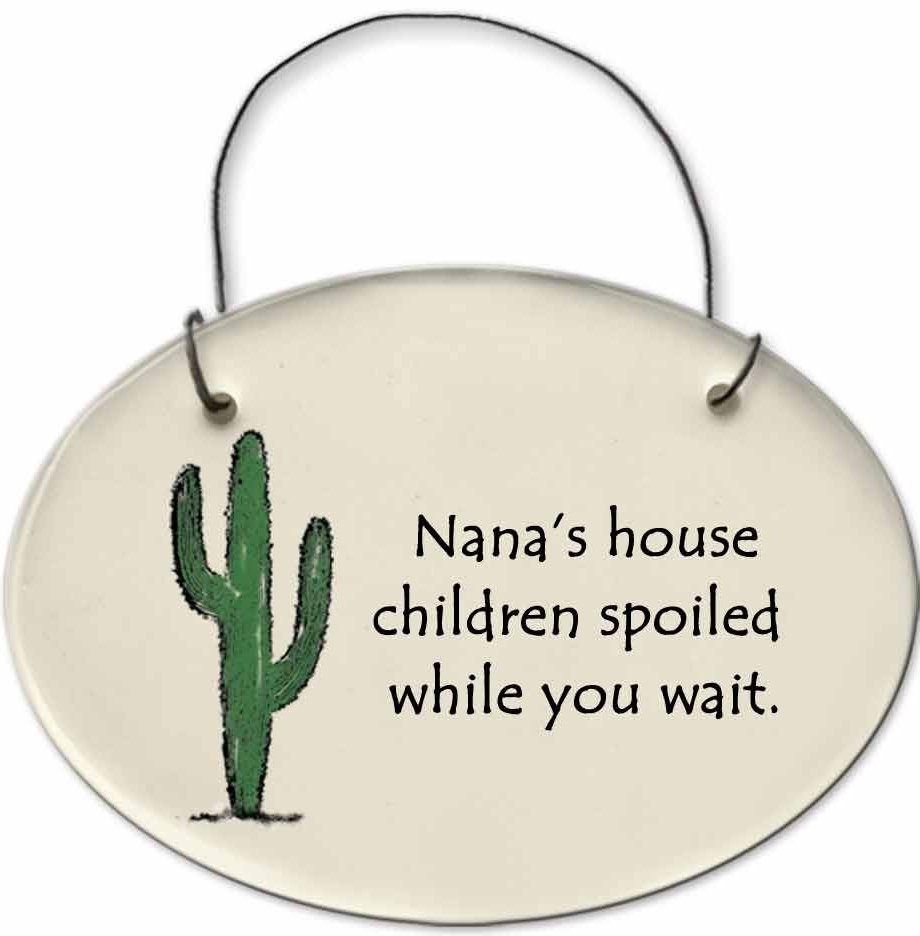 August Ceramics 2153A Cactus - Nana's house Mini Disk