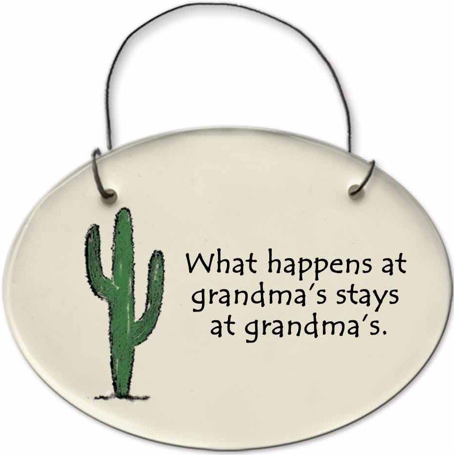 August Ceramics 2153C Cactus - What happens at Grandmas Mini Disk