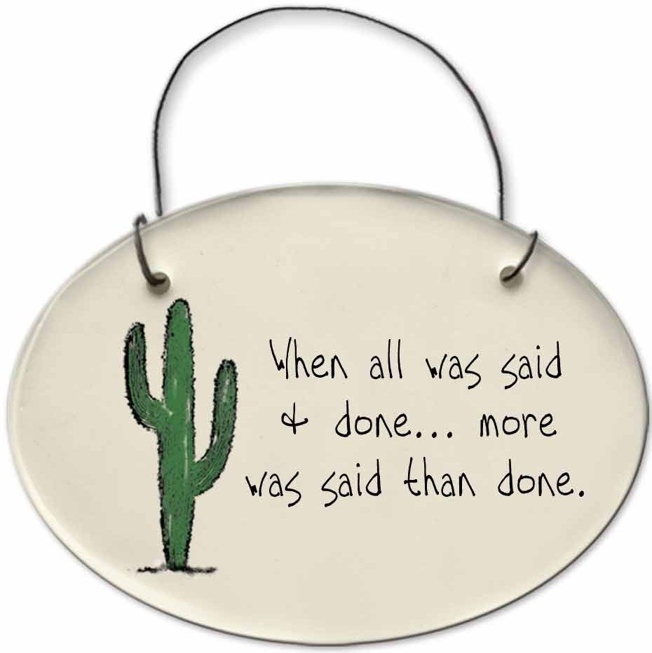 August Ceramics 2153F Cactus - When all was said and done Mini Disk
