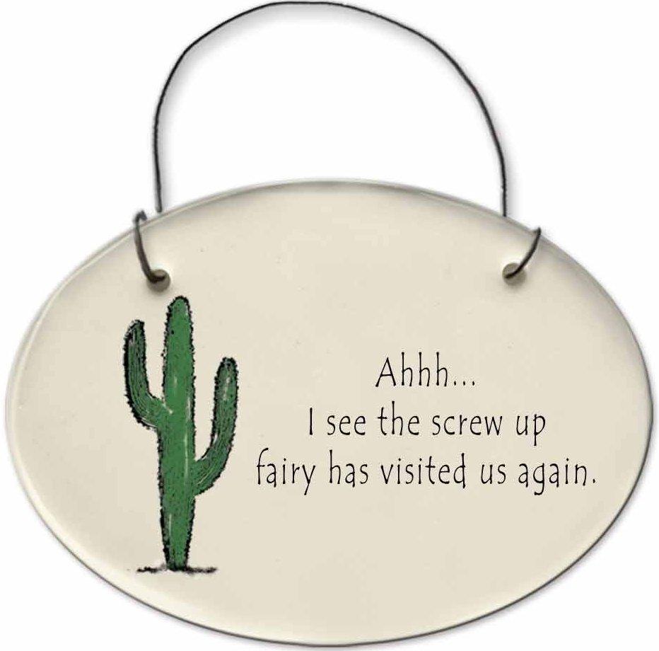 August Ceramics 2153G Cactus - Ahhh I see the screw up fairy Mini Disk