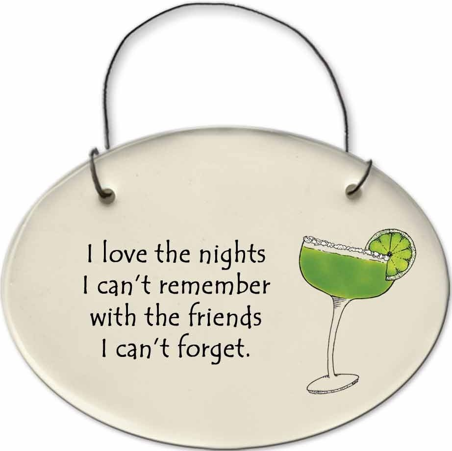 August Ceramics 2156C Margarita glass - I love the nights I Can't remember Mini Disk