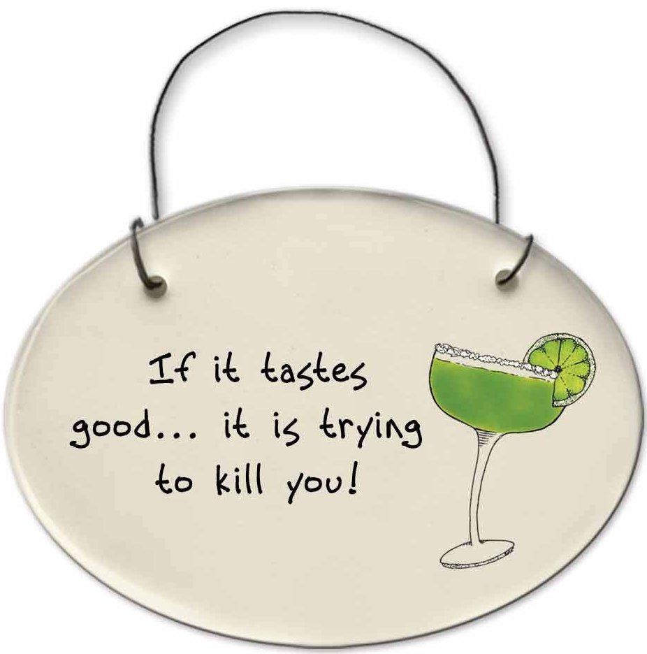 August Ceramics 2156D Margarita glass - If it tastes good Mini Disk