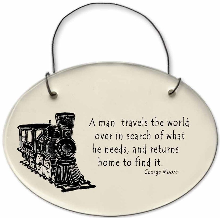 August Ceramics 2170C Train - A man travels the world Mini Disk