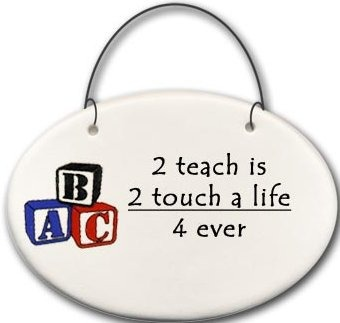 August Ceramics 2177B Blocks 2 teach is 2 touch a life 4-ever Mini Disk