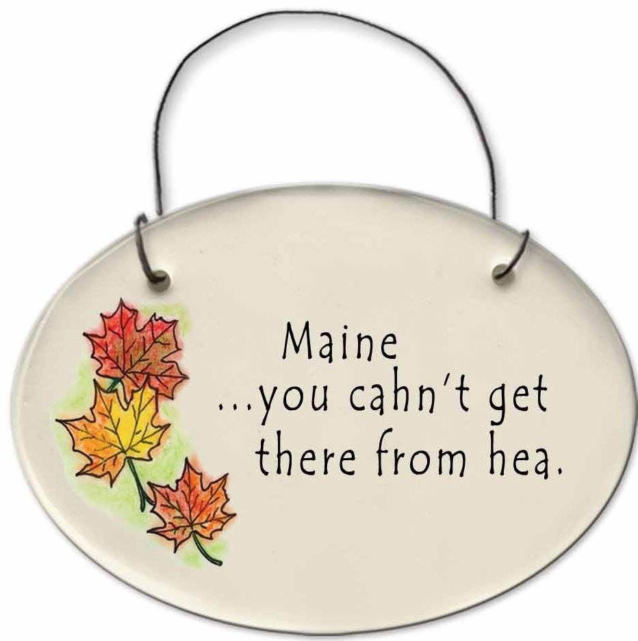 August Ceramics 2180C Autumn leaves Maine - You cahn't get thea from hea Mini Disk