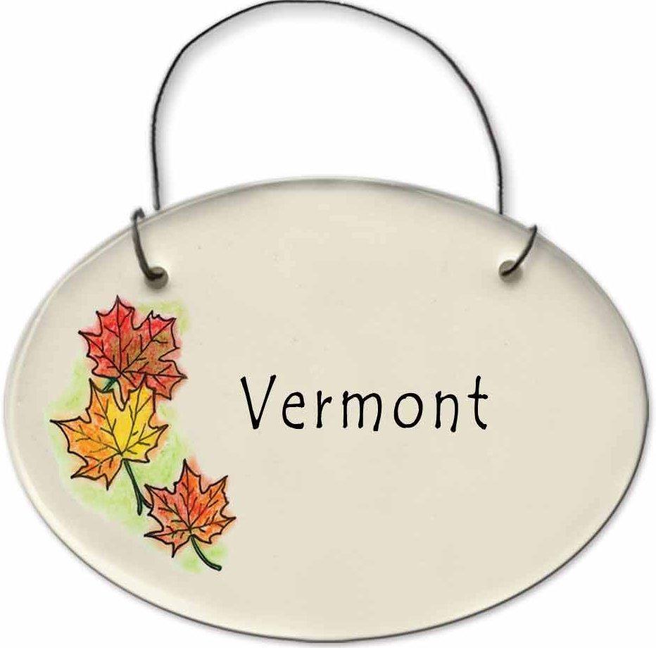 August Ceramics 2180F Autumn leaves VERMONT Mini Disk