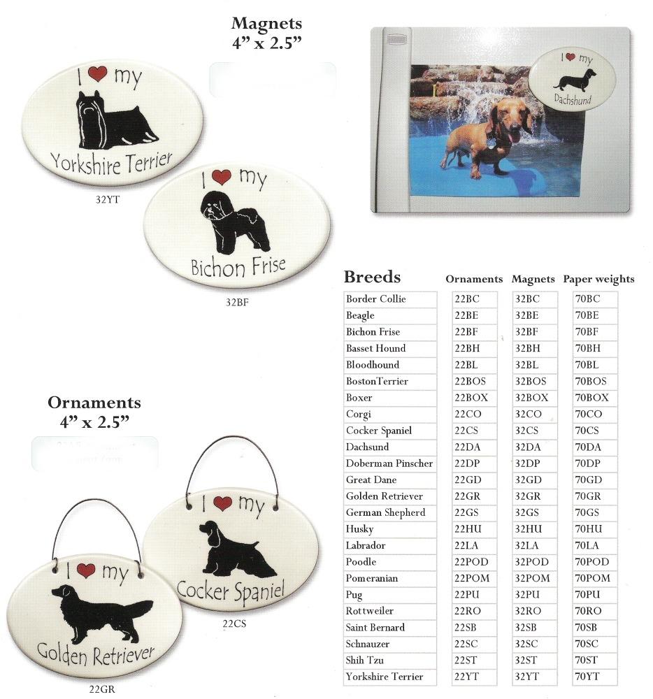 August Ceramics 22BL Bloodhound Ornament