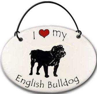 August Ceramics 22EB English Bulldog Ornament