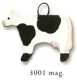 August Ceramics 3001 Cow Magnet