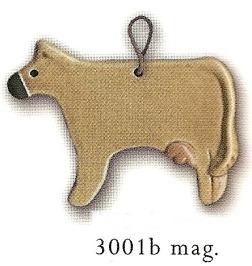 August Ceramics 3001B Brown Magnet