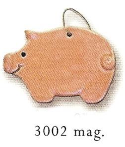 August Ceramics 3002 Pig Magnet