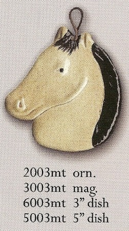 August Ceramics 3003MT Tan with Black Mane Magnet