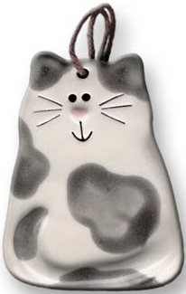 August Ceramics 3030G Spots Gray Magnet