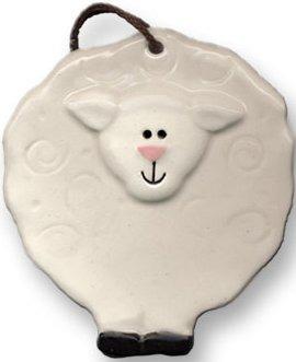 August Ceramics 3089 Lamb Magnet