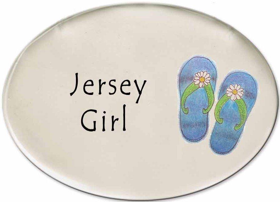 August Ceramics 3125H Flip Flops Jersey Girl Disk Magnet