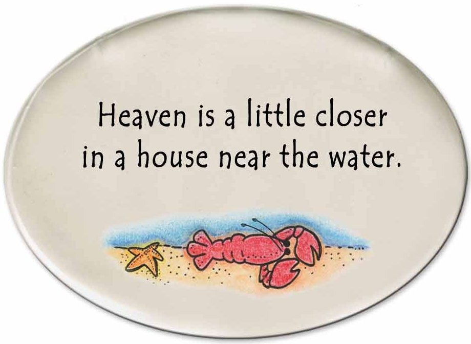 August Ceramics 3129A Lobster in sea Heaven is a little closer Disk Magnet