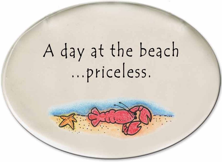 August Ceramics 3129B Lobster in sea A Day at the beach priceless Disk Magnet