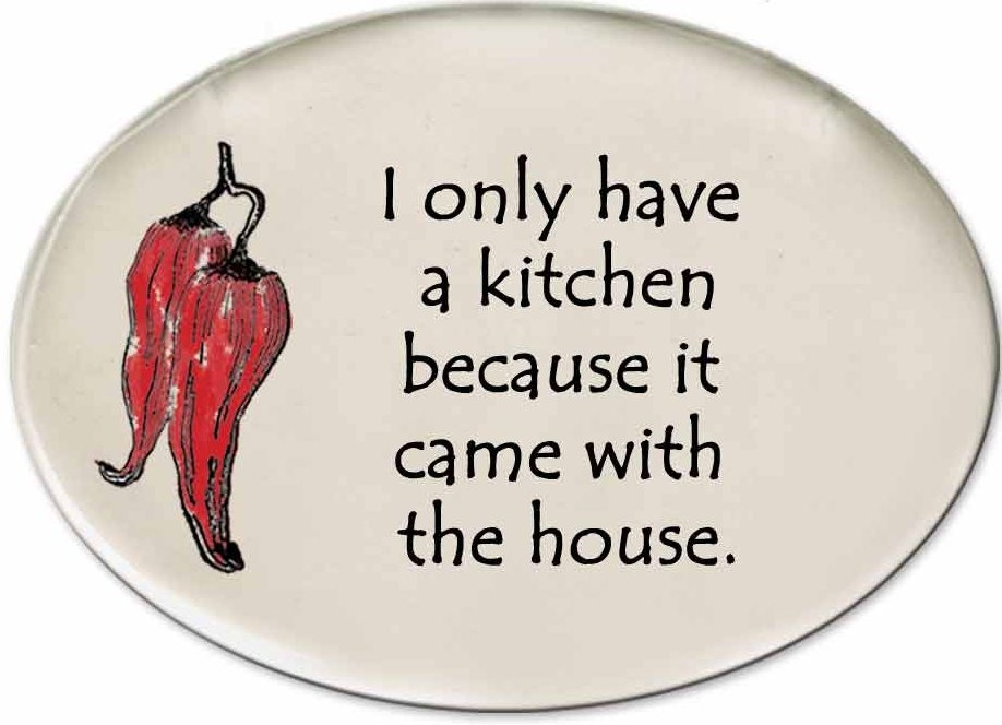 August Ceramics 3151B Chili Pepper - I only have a kitchen Disk Magnet