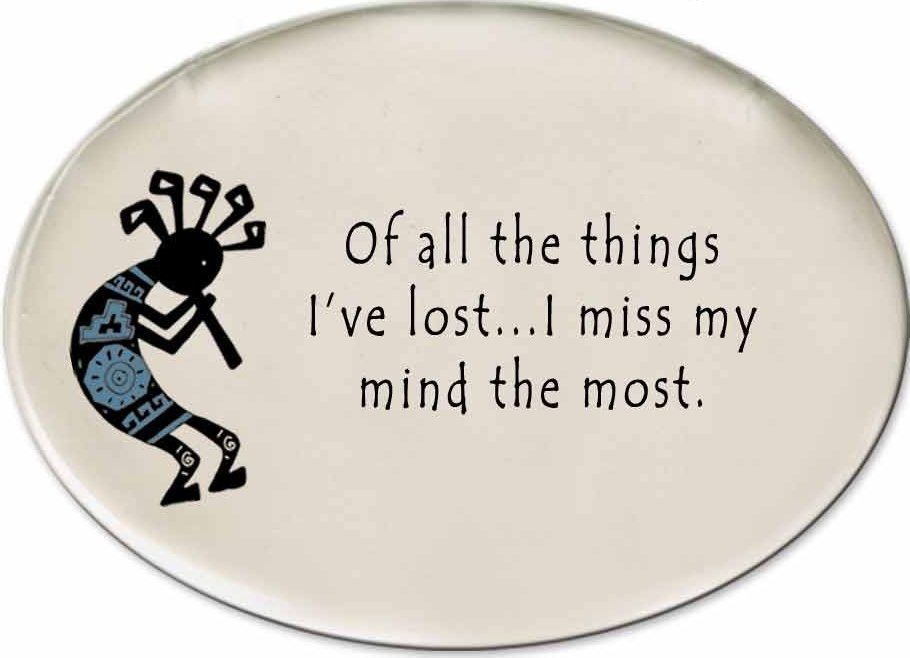 August Ceramics 3152B Kokopelli - of all the things I've lsot Disk Magnet