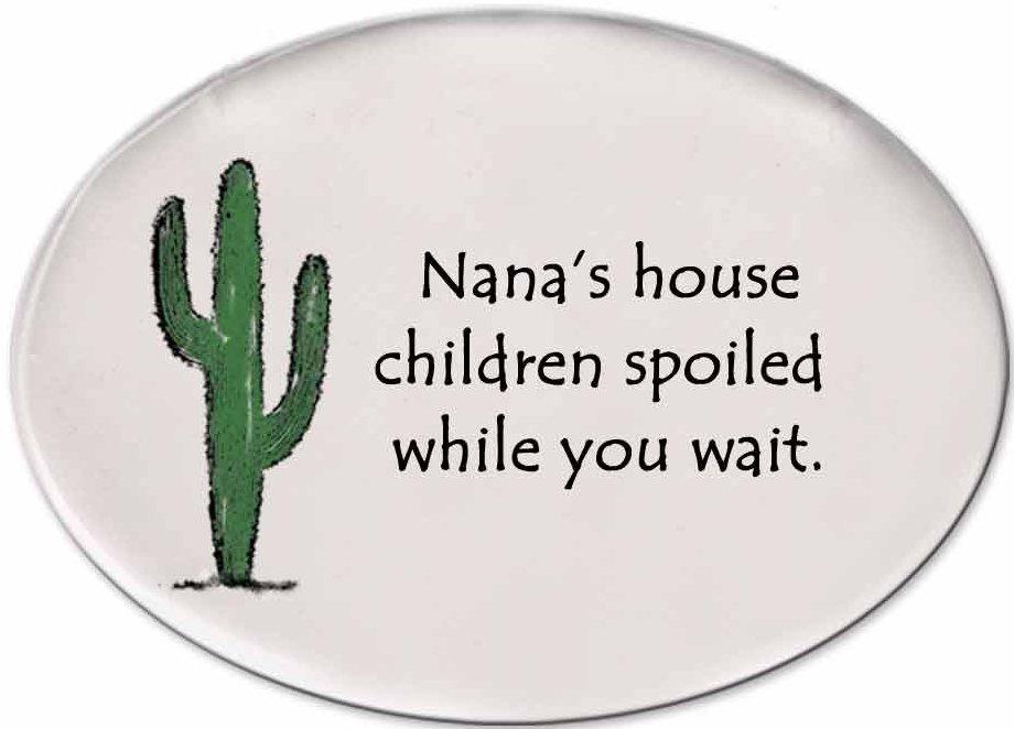 August Ceramics 3153A Cactus - Nana's house Disk Magnet